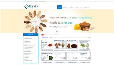 findnutra生物科技有限公司网站建设